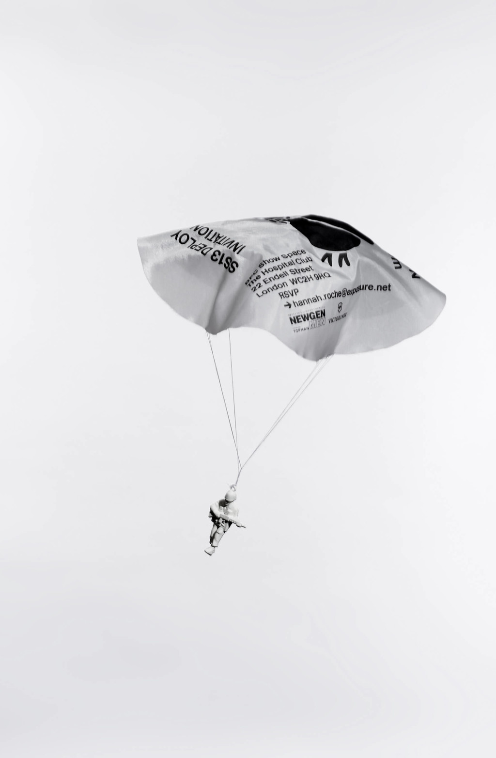 "An invitation for Christopher Raeburn's SS13 show, ""Deploy"", designed by Simon Palmieri and Régis Tosetti - © Photograph: Sam Scott-Hunter, Swiss Design Awards Blog"