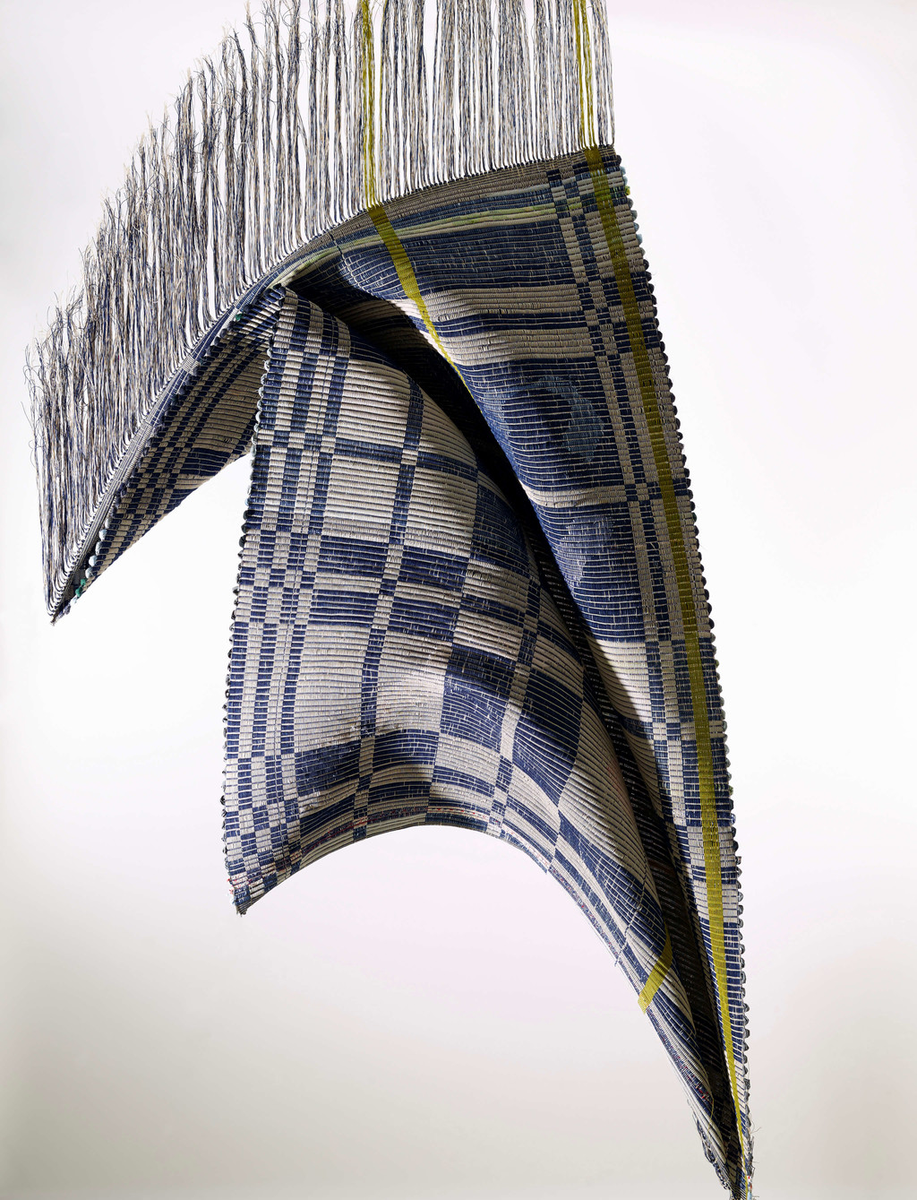 A textile developed by Estelle Bourdet marrying digital sketches and traditional weaving techniques - © Photograph: Moostang, Swiss Design Awards Blog