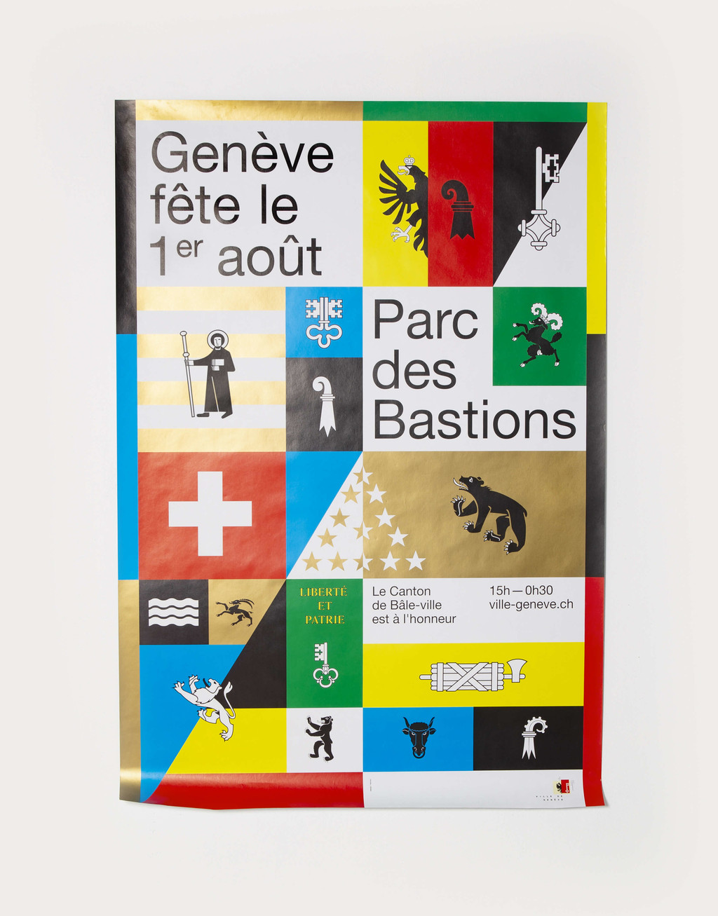 A poster by Neo Neo for the 2017 Swiss national holiday celebrations in Geneva - © Photograph: Neo Neo, Swiss Design Awards Blog