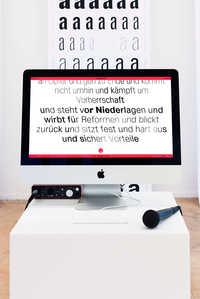 """Voicewriter"" - © Photo: Vincent Levrat, Swiss Design Awards Blog"