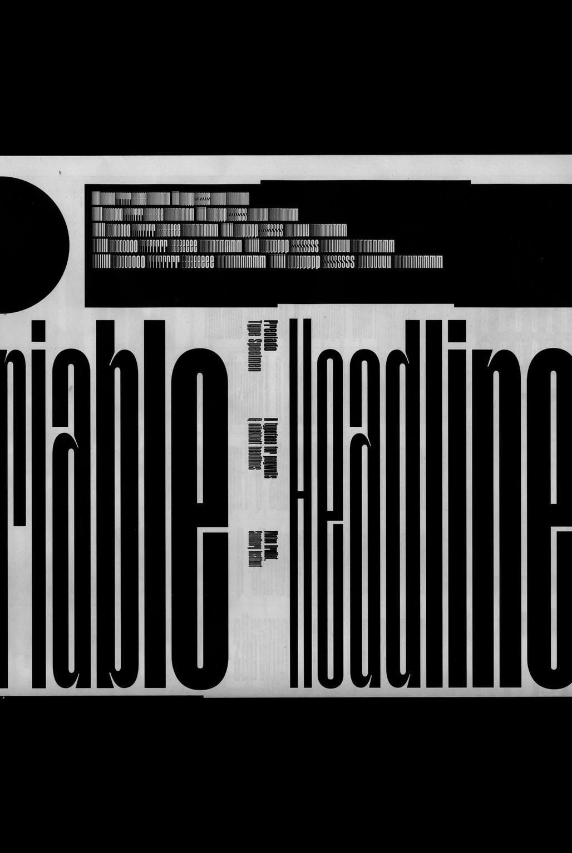 """""""Preciado"""", type specimen - © © Mateo Broillet, Swiss Design Awards Blog"""