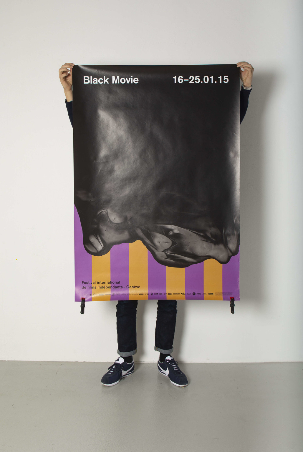 "Poster for ""Black Movie"" film festival, Geneva, 2015 - © © Neo Neo, Swiss Design Awards Blog"