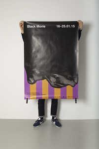 """Poster for """"Black Movie"""" film festival, Geneva, 2015 - © © Neo Neo, Swiss Design Awards Blog"""
