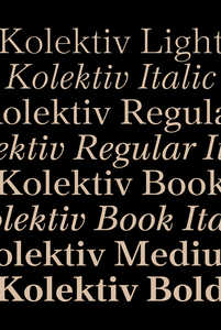 """Kolektiv"" font family - © © Ondrej Bachor, Swiss Design Awards Blog"
