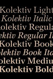 """Kolektiv"" font family - © © Ondrej Bachor, Swiss Design Awards Blog"
