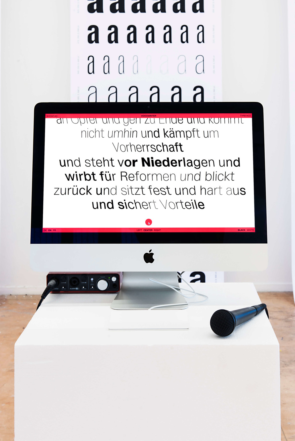 """Voicewriter"" - © Photo: Vincent Levrat, Swiss Design Awards Blog"